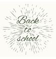 Back to school and vintage sun burst frame vector image