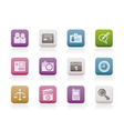 computer and business icons vector image vector image