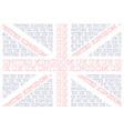United Kingdom Text Flag vector image vector image