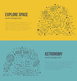 Astronomy Banner vector image