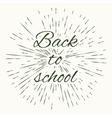 Back to school and vintage sun burst frame vector image
