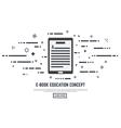 E book concept vector image