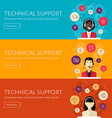 Flat design concept for technical support f vector image