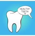 hand drawn pop art of white tooth vector image