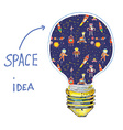 Idea lightbulb space vector image