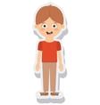 little boy avatar isolated vector image
