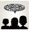 people avatar and social media design vector image