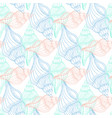 shells vintage seamless pattern hand drawn marine vector image