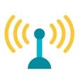 Telecommunications radio antenna vector image