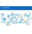 Online Banking Timeline Infographics vector image