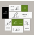 Business cards design with cityscape sketch vector image