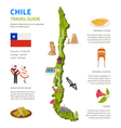 Chile Infographics Layout With Map vector image
