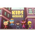 Kids Superheroes Cartoon vector image
