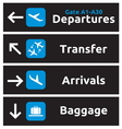 Airport Signs vector image vector image