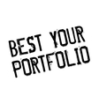 Best Your Portfolio rubber stamp vector image