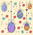 doodle of easter egg style flat vector image