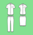 set of a blazer pants and skirt vector image