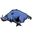 running wild hog mascot vector image