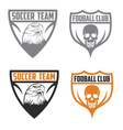 football team crests set with eagle and skull vector image