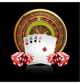 Casino Background with Roulette Wheel vector image vector image