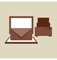 technology office information computer printer vector image