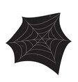 halloween spider web with grunge textures vector image