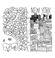 Hand drawn of Central Park in NY vector image
