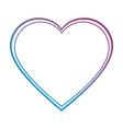heart love decorative icon vector image