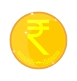 Indian rupees gold coin vector image