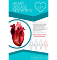 infographics heart 1 vector image