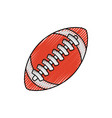 isolated american football vector image