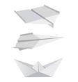 Origami aeroplanes boat vector image