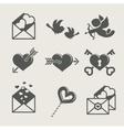 Saint valentines day set icon vector image