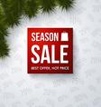 Season sale design template vector image