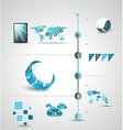 Timeline design template with world map vector image