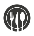 cutlery tool kitchenware isolated icon vector image vector image