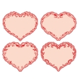 Set of ornate heart frames vector image