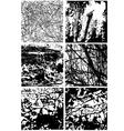 Grunge textures vector image vector image