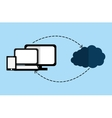 Cloud computing and hosting design vector image