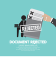 Document Rejected vector image