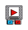 cinema 3d technology icon vector image