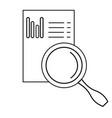 graph analysis icon vector image