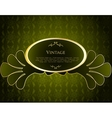 Green Label Template vector image