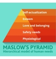 Maslow pyramid of needs vector image