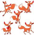 set funny foxes Cartoon vector image