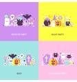 Trendy Halloween Concepts Set vector image