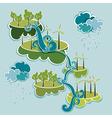 Go green energy concept vector image