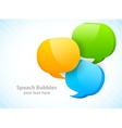 Three speech bubbles vector image