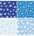 snow pattern set vector image vector image