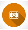 Play video icon vector image vector image
